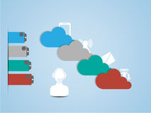 Cloud computing background. For web Stock Photo