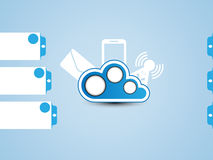 Cloud computing background. For web Stock Photography