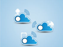 Cloud computing background. For web Stock Image