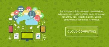 Cloud computing banner. Royalty Free Stock Image