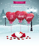 Beautiful Valentines day card Royalty Free Stock Images