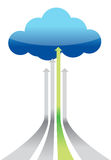 Cloud Computing best connection. Illustration design graphic Royalty Free Stock Photography