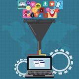 Cloud computing and big data filter – vector. Cloud computing and big data filter –  vector Illustration Royalty Free Stock Photography