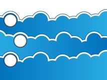 Cloud computing blackboard style Stock Photo