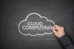 Cloud computing on Blackboard Stock Photography