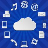 Cloud computing - blue background Royalty Free Stock Image