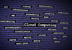 Cloud computing Blue close Royalty Free Stock Photography