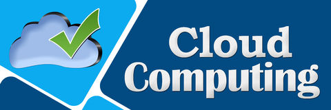 Cloud Computing Blue Rounded Squares Stock Photo