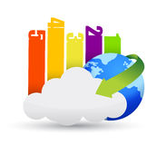 Cloud Computing business concept Royalty Free Stock Photos