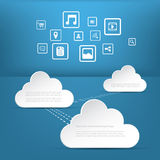Cloud computing business concept with application Stock Photos