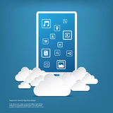 Cloud computing business concept with smartphone Royalty Free Stock Image