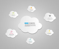 Cloud Computing Business Concept Vector Illustration Royalty Free Stock Photography