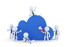 Cloud computing business concept. Stock Photo