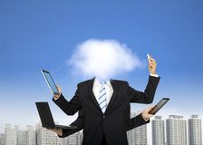 Cloud computing and business thinking Stock Photos