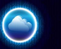 Cloud computing business Transaction bigdata storage royalty free illustration