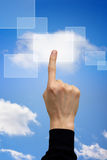 Cloud computing button Stock Image