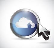 Cloud computing button illustration design Stock Photography