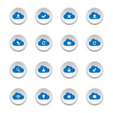 Cloud computing buttons Royalty Free Stock Photography