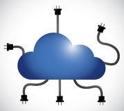 Cloud computing cable connection. illustration Stock Image