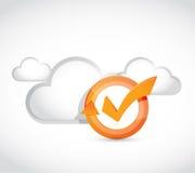 cloud computing check mark cycle Royalty Free Stock Images