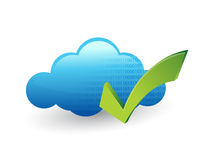 Cloud computing and check mark vector illustration