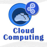 Cloud Computing Circles with text Royalty Free Stock Photo