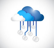 Cloud computing circuit board illustration design Stock Images