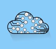 Cloud computing circuits illustrations Royalty Free Stock Photo
