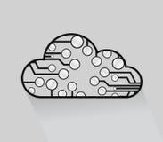 Cloud computing circuits illustrations Stock Photos