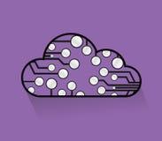 Cloud computing circuits illustrations Royalty Free Stock Image