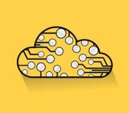Cloud computing circuits illustrations Royalty Free Stock Photos
