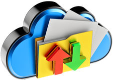 Cloud computing and circulation digital documents Stock Photo