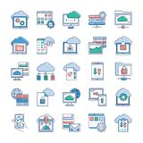 Cloud Computing Icons royalty free illustration