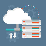 Cloud Computing. Cloud data storage Royalty Free Stock Image