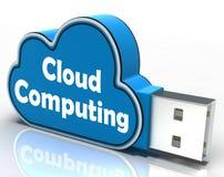 Cloud Computing Cloud Pen drive Shows Digital Royalty Free Stock Photos