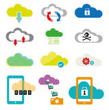 Cloud Computing collection vectors. Different illustrations of Cloud computing Icon for technology concepts. Vector and Raster available royalty free illustration
