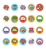 Cloud Computing Colored Vector Icons 3 Stock Photography