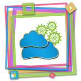 Cloud Computing Colorful Frame Royalty Free Stock Photo