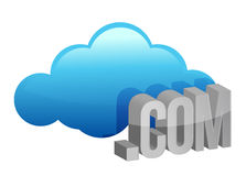 Cloud computing .com Stock Photography