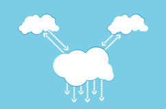 Cloud computing communication Royalty Free Stock Photo