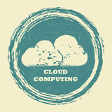 Cloud computing communication. Abstract background Stock Photos