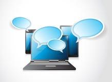 Cloud computing communication concept Royalty Free Stock Photos