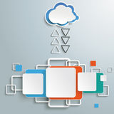 Cloud Computing Communication. Infographic with cloud computing on the grey background. Eps 10  file Stock Image