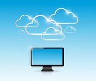 Cloud computing computer connection illustration Stock Photo