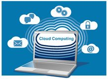 Cloud computing computer Royalty Free Stock Photos