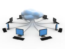 Cloud Computing Concept. In 3d style Stock Images