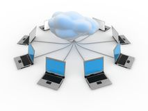 Cloud Computing Concept. In 3d style Royalty Free Stock Image