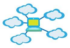Cloud computing concept. Illustration design Stock Photography