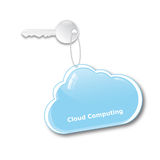 Cloud Computing Concept. Secure access to data stored in the computer cloud Royalty Free Stock Images