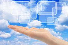 Cloud computing concept Royalty Free Stock Image